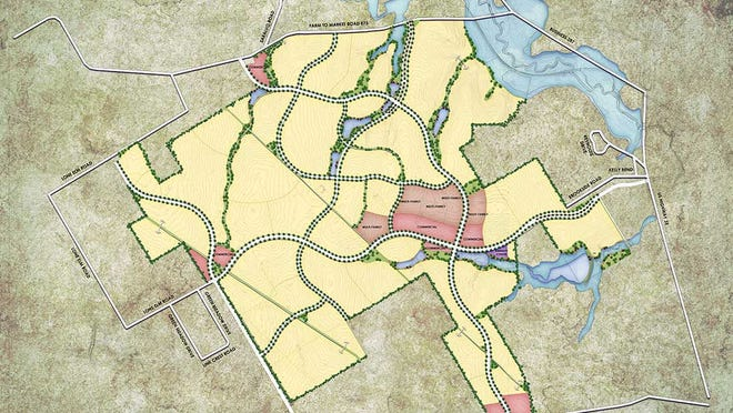 A map of the proposed Emory Lakes development west of Interstate 35E. The Waxahachie City Council will consider the creation of a public improvement district for the 10,000-home development during Monday night's meeting.