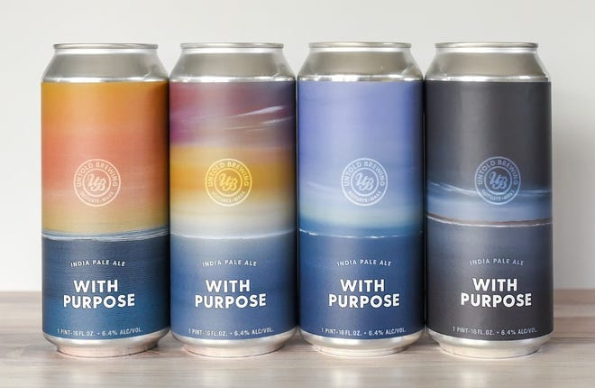 As part of a new collaboration with artist Becky O'Toole, Untold Brewing is offering a special hazy IPA sold in a 4-pack using four distinct labels featuring O'Toole's artwork.