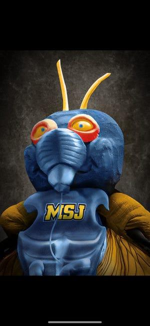 On April Fools' Day 2021, Mount St. Joseph University unveiled this cicada mascot.