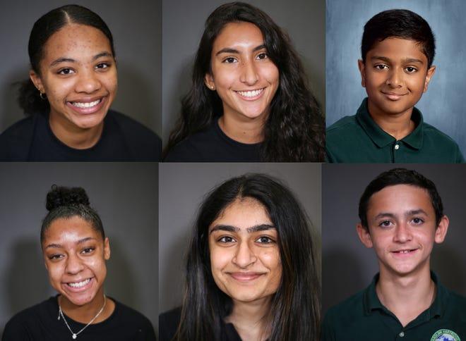 (Top row, left to right) Mikayla Cole, Camila Martinez and Vinay Karthik. (Bottom row, left to right) Zoe Rose, Suniti Shah and Adam Eisdorfer.