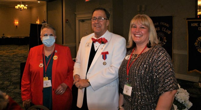ShirLee Eberlee, left, was selected as Lion of the Year for Zone 1 of District 13 OH 2.