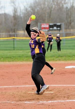 Lexington's Jillian Bammann crushed three home runs and had nine RBIs in a double header sweep against Norwalk.