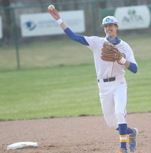 Ontario's Ryan Brophy scored the walk-off run after getting hit by a pitch, stealing second and scoring on two wild pitches to help the Warriors beat Shelby.