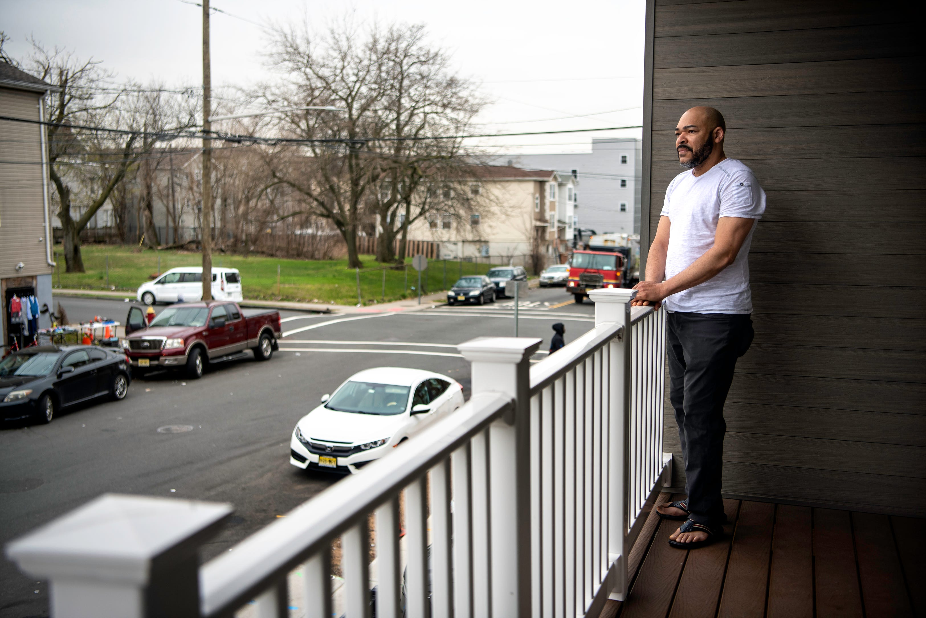 Andres Diaz takes in the view of Hamilton Ave.