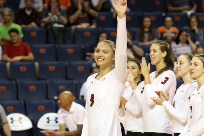 Julianna Salanoa was an All Conference caliber player for the New Mexico State volleyball team. But COVID-19 forced her to step away from the sport she loved to further pursue the career she loved.