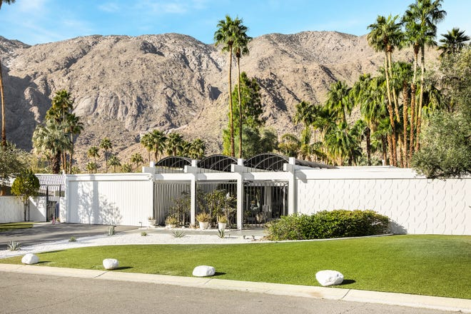 "The late Trini Lopez' Palm Springs home ""Casa Lopez."""