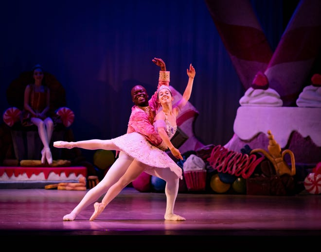 Hannah Holtsclaw as Snow White and Marsalis Rene AnderSon-Clausell as the Huntsman showcase Ballet Pensacola's Snow White in April.