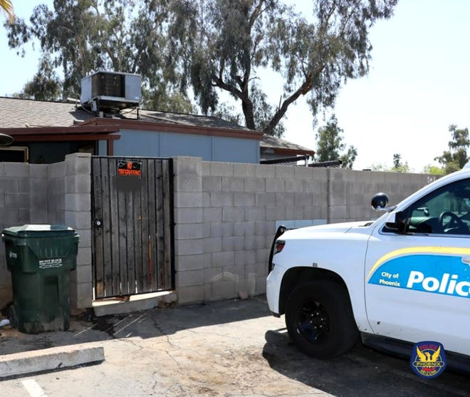 Phoenix police found evidence of a fatal stabbing at a suspect's residence.