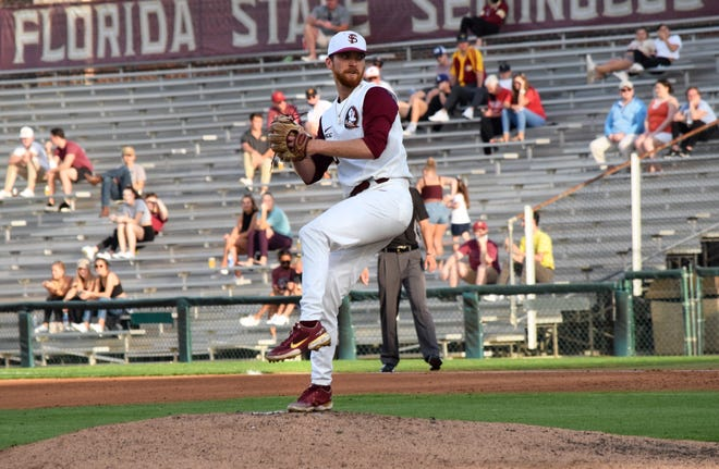 FSU pitcher Jack Anderson gave up only one hit and one run in 6.2 innings of work