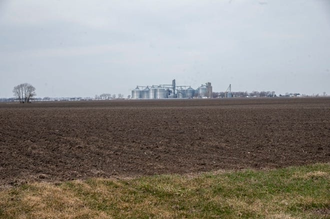 Farm acreage at the northeast corner of 600E and 700N, Bement, Il belonging to  Baloo Enterpriseson Saturday, March 13, 2021.