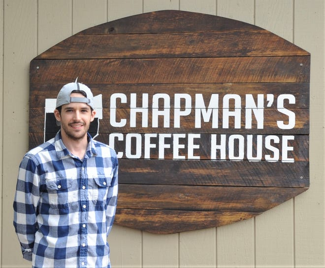 Garrett Chapman, a Noble County native, owns Chapman's Coffee House, located on Main Street in New Concord. He bought the business in 2016 when it was called the Crumb and Cup Coffee Shop.