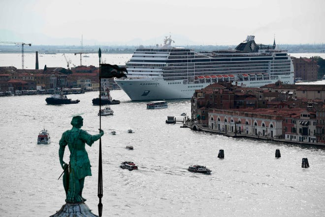 There have been increased calls to ban large cruises ships from Venice's city center since the MSC Opera crashed into a dock and tourist boat there in June 2019.