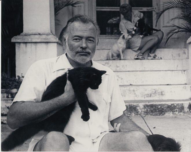 Ernest Hemingway at his home in Cuba, circa 1950