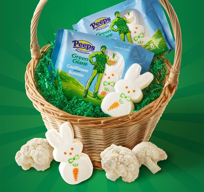 These limited-edition cauliflower flavored marshmallow bunnies are actually an April Fools' Day prank from Green Giant and Peeps.