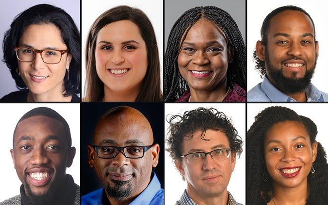 From top left, USA TODAY's Tami Abdollah, Rachel Aretakis, Suzette Hackney, Jarrad Henderson, Harrison Hill, Michael McCarter, Steve Myers and N'dea Yancey-Bragg.