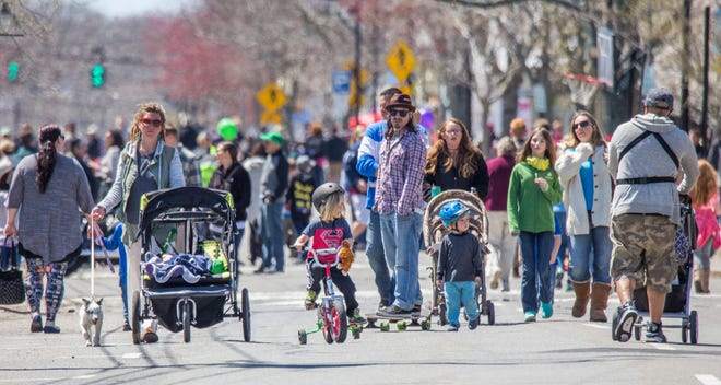 Scene from Hyannis Open Streets, spring 2017. With more New Englanders traveling close to home, Cape Cod & the Islands are hiring in anticipation of a record-breaking summer.