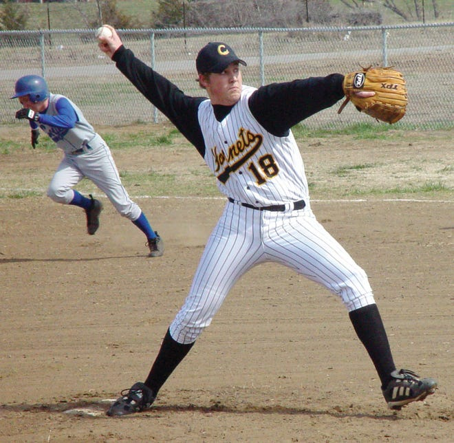 A look back at Kyle Davis pitching for Copan High School during his senior campaign of 2002.