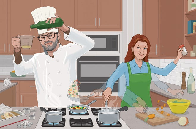"""""""After my long reign as Queen of the Kitchen, sharing the throne felt uncomfortable,"""" writes Katherine Matthews. """"Yet, with each meal, my exhausting desire to control has ebbed."""""""