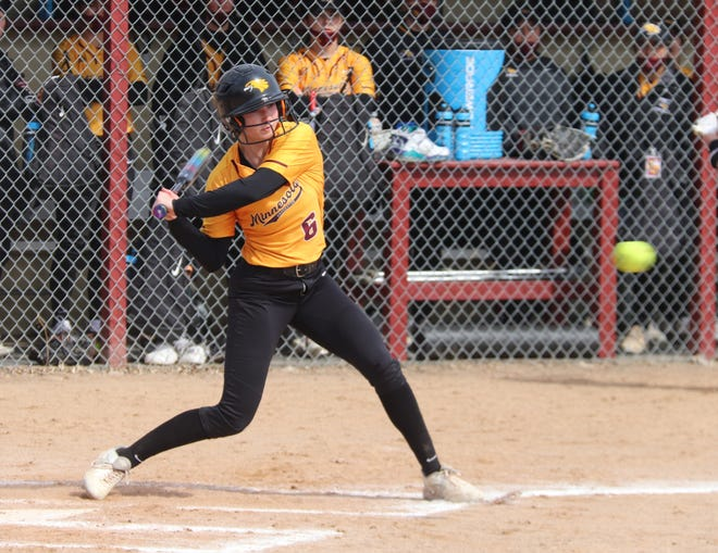 Alyssa Stillman and the Minnesota Crookston softball team dropped all four of its games at home this weekend.