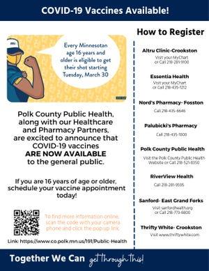 Polk County Public Health's COVID-19 vaccine flyer