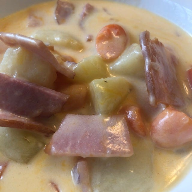 This week we are re-running classic ham and cheese soup, perfect for using leftover Easter ham.