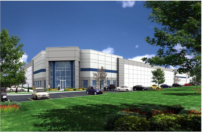 This is an artist's rendering of International Recycling Group's proposed Erie recycling sorting facility.