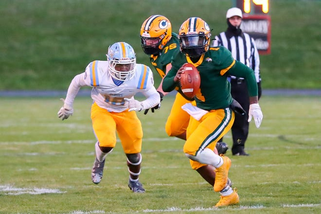 Scenes from Thursday's football game between Burns and Crest.