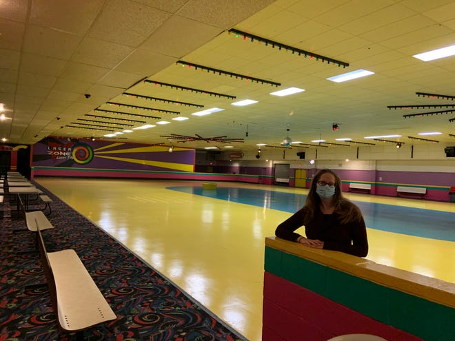 General Manager Jamie Cortes stands inside Roll On America in Lancaster. The popular destination for Greater Gardner families will close its doors for the last time Monday.