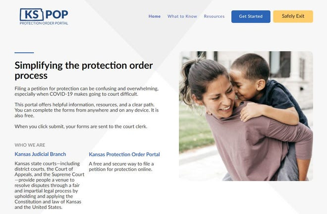 The website KSPOP.org allows Kansans to file for protection from abuse orders online.