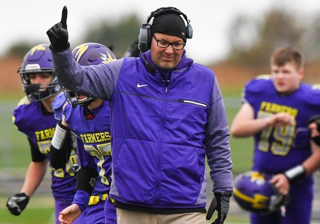 Farmington football coach Toby Vallas.