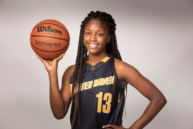 Winter Haven senior Trinity Hardy led the Blue Devils in scoring and has committed to Army.