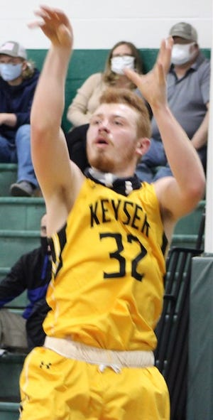 Shown in previous action, Keyser's Darrick Broadwater led the Tornado with a 20 point performance against Tucker County.