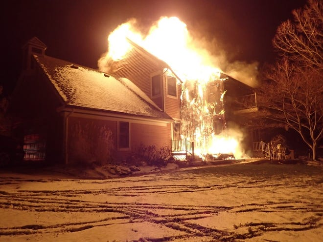 A fire that is believed to have started in a hot tub early Friday morning spread to a home on Briggs Street in Richmond.