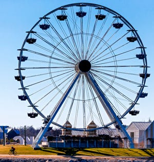 With warming weather, the Wheeler District Ferris wheel is open for rides.
