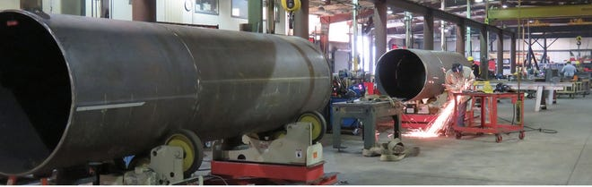 Work under way at a Chickasaw Nation manufacturing site.
