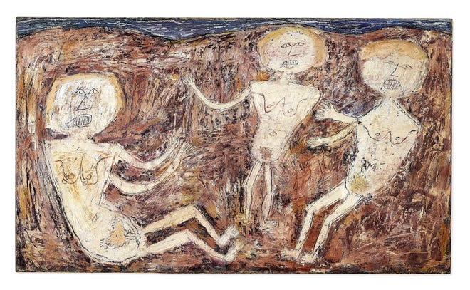 Jean Dubuffet's 'Baigneuses' is Dubuffet's largest work from a group of 10