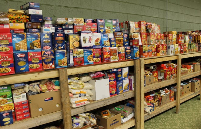 The Chesterfield Food Bank pantry in Chester, Va.