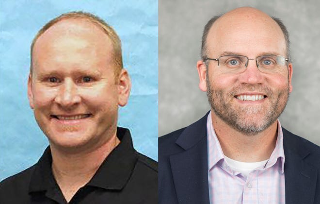 Dan Hedberg, left, principal of Willamette High School, and Kraig Sproles, left, assistant superintendent in Salem-Keizer School District,  are finalist for superintendent of Bethel School District.