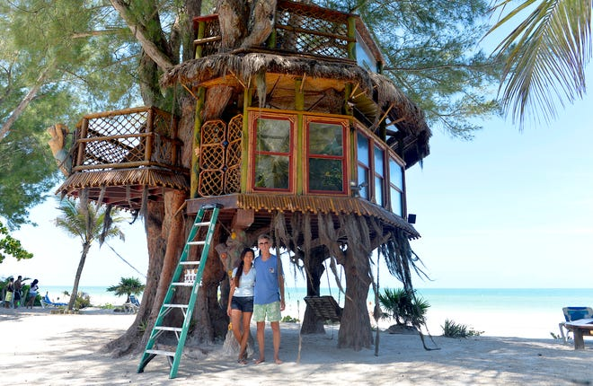 Richard Hazen and Lynn Tran-Hazen, seen here in 2013, have been battling the city of Holmes Beach for a decade over the treehouse they built at their Gulf-front resort.