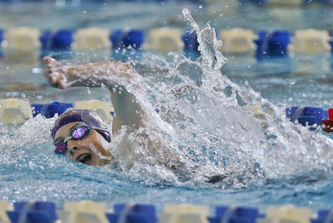 Topeka West junior Kadence Jeffries was a two-time state champion as a freshman in 2019, winning the Class 5-1A title in the 200 and 500 freestyles.