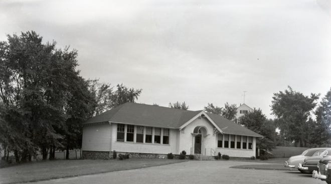 The former Tuttle Square School on South Street in Auburn replaced a one-room school a century ago. This undated photo is from the Donald R. Holstrom Photographic Archives.