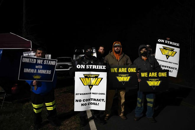 Coal miners in Brookwood went on strike April 1 after the United Mine Workers of America failed to reach an agreement with Warrior Met Coal Inc. On Friday, a tentative deal was rejected, meaning the strike will continue.