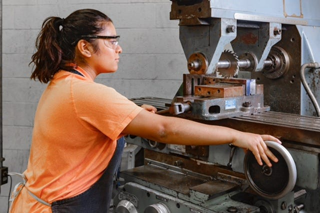 Texas State Technical College's Precision Machining Technology program teaches students the skills they need to walk into any company that hires precision machinists and begin work.