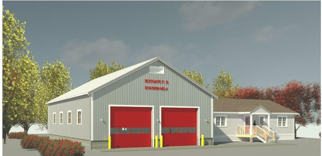 An artist's rendering of the new Humarock Fire Station 4.  Construction on the new building is set to begin within a couple of weeks.