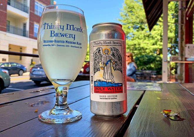 Thirsty Monk's Holy Water hard seltzer, pictured here at the Biltmore Park location, will be highlighted at a new sushi and seltzer brewpub in Gerber Village.