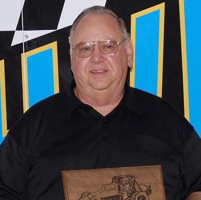 Larry Ball Sr. during his 2008 induction to the Knoxville Raceway Hall of Fame
