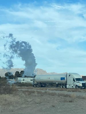 Motorists are being asked to avoid the Interstate 25 and Interstate 10 interchange on Thursday, April 1, after a semi-trailer hauling compressed refrigerated hydrogen sprung a leak.