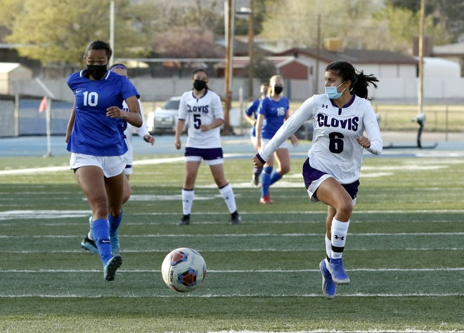 Photos from the Carlsbad Cavegirls soccer match against Clovis on April 1, 2021. Carlsbad won, 3-1 and clinched the district title.