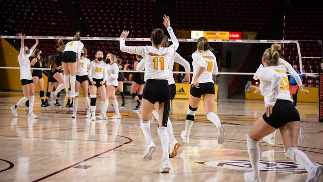 ASU volleyball rallied in the final two sets Thursday to upset No. 16 Oregon 3-2.