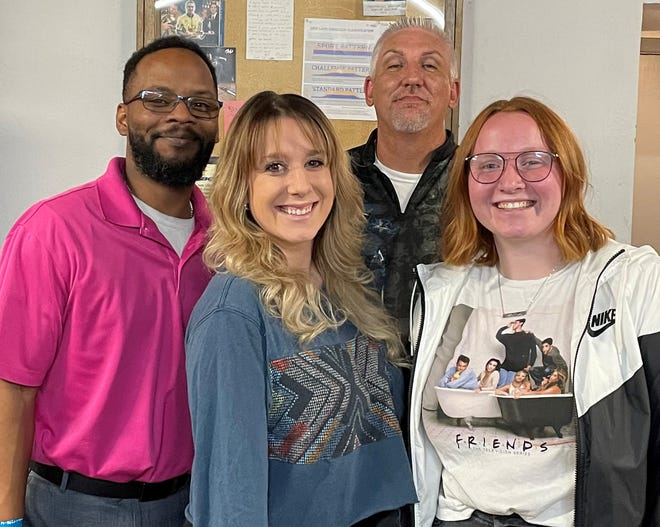 Four standouts from the recent Washington County Mixed Bowling Tournament in St. George were, from left, Mo Davis, Bryeann Barckley, Matt Hill and Ashley Thomas.